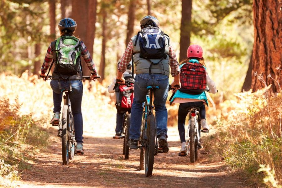 Ruta en bicicleta con niños